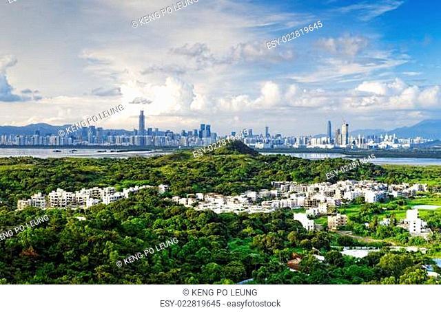 HongKong country sunset