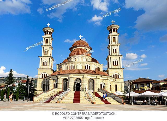 Orthodox cathedral in Korce, Albania