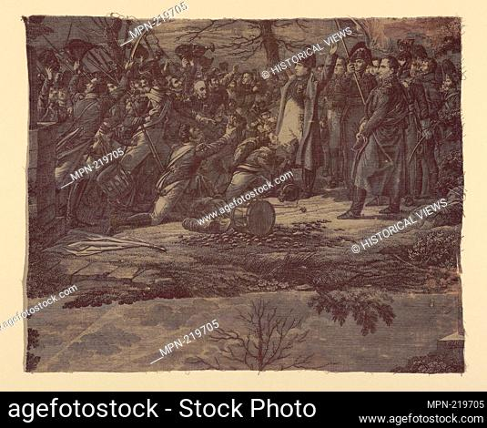 Le Retour de L'Ile d'Elbe (The Return from the Isle of Elba) (Furnishing Fabric) - c. 1830 - Engraved by Samuel Cholet (French
