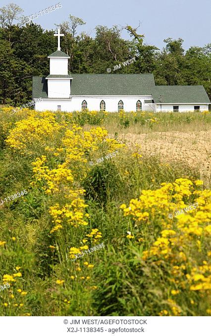 Osgood, Indiana - The Cedar Creek Community Church in southeastern Indiana
