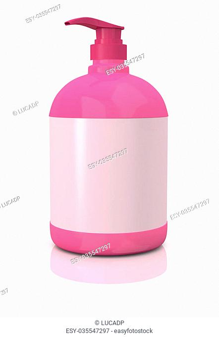 one soap dispenser with an empty label for customization (3d render)