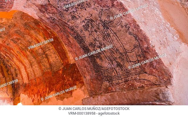Paintings in shrine of San Estebán