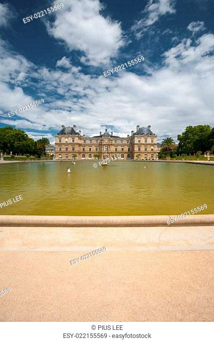 Luxembourg Palace Gardens Fountain