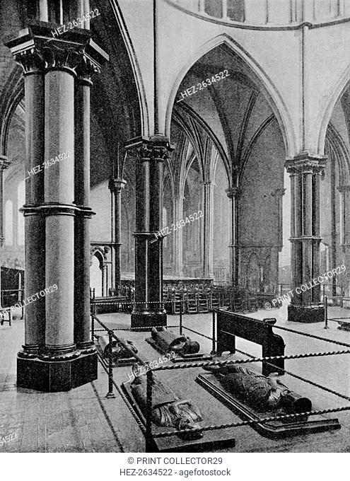 Interior of the Temple Church, City of London, c1905 (1906). Artist: Photochrom Co Ltd of London