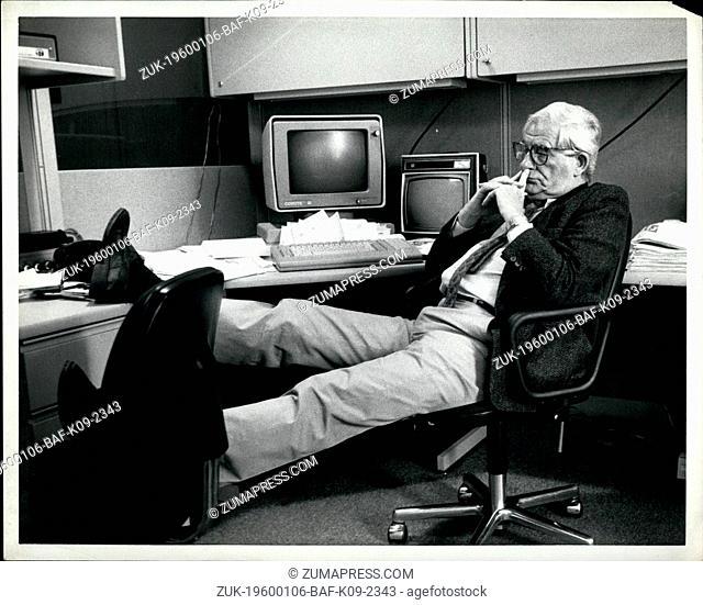 1982 - CEO sitting at desk. (Credit Image: © Keystone Pictures USA/ZUMAPRESS.com)