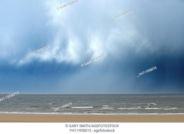 Rain clouds over the sea, Holkham Bay
