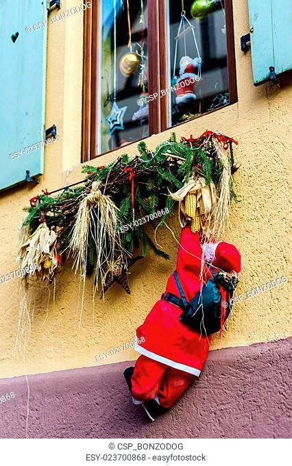 Beautiful Christmas decoration elements on street
