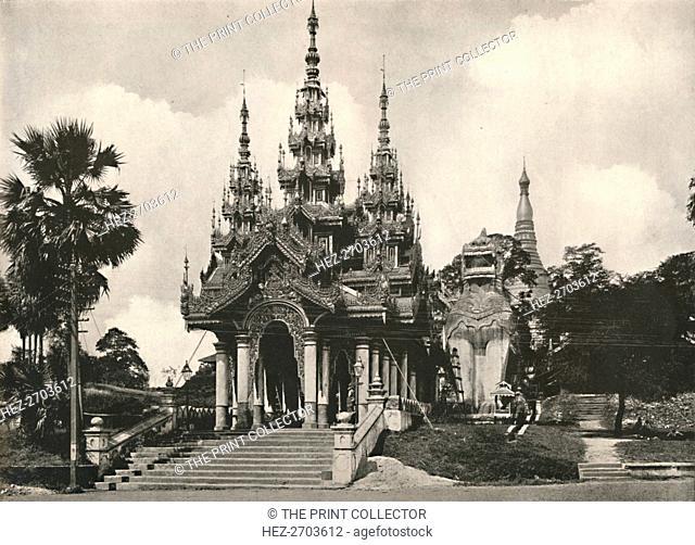 'South Entrance to Shwe Dagon Pagoda, Rangoon', 1900. Creator: Unknown