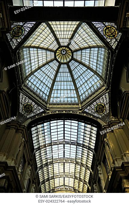 Gallery glass roof of the City Hall building, Guayaquil, Ecuador, South America