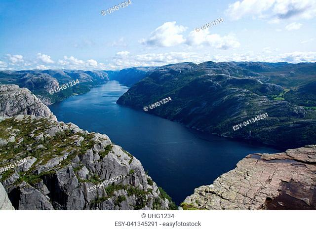Lysefjord or Lysefjorden is a fjord located in the Ryfylke area in southwestern Norway