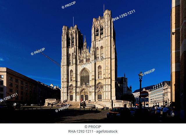 The St. Michel and Gudule Cathedral, Brussels, Belgium, Europe