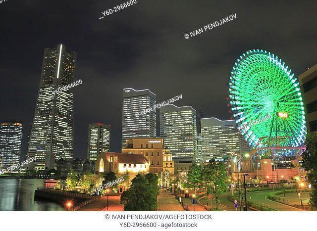 Yokohama at Night, Japan