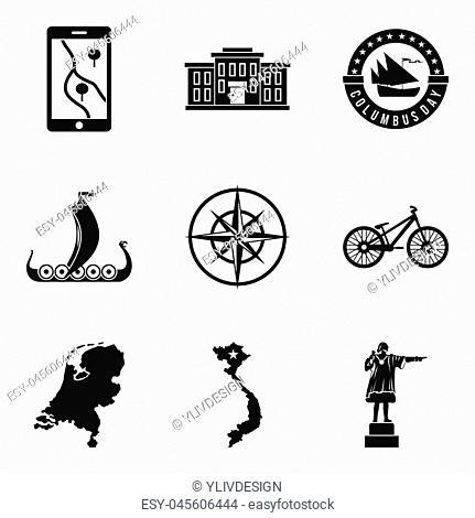 Survey icons set. Simple set of 9 survey icons for web isolated on white background