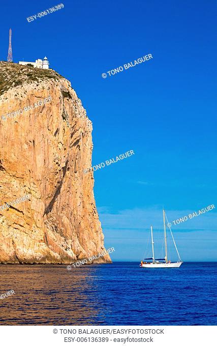 Cabo de San Antonio cape in Javea Denia Mediterranean sea of Spain