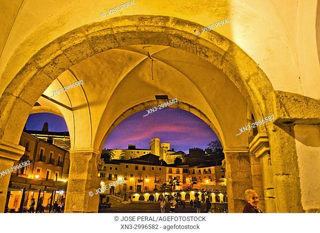Plaza Mayor, Main Square, Trujillo, Caceres Province, Extremadura, Spain, Europe