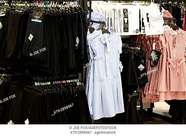 cheap school uniforms for sale in a uk tesco supermarket