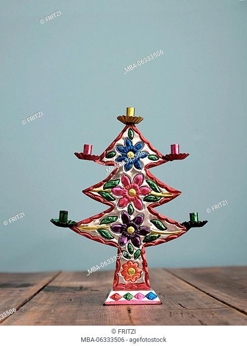 Christmas tree, candlestick, Christmas decoration