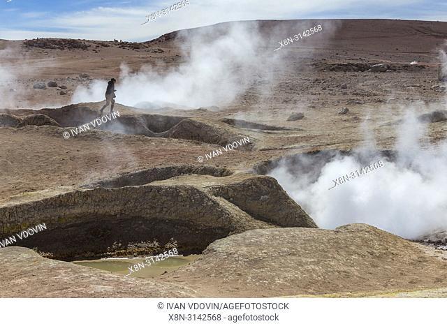 Geyser Sol de Manana, Eduardo Avaroa National park, Potosi department, Bolivia