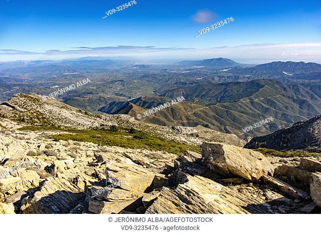 Biosphere Reserve. Natural Park Sierra de las Nieves. Ronda, Malaga province. Andalusia, Southern Spain. Europe