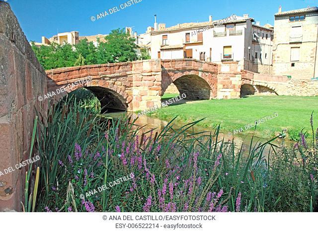 Molina de Aragon bridge Castile Spain