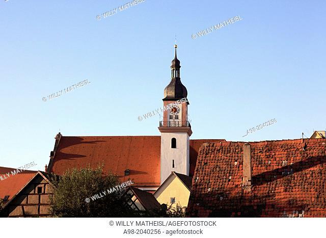 Katholische Pfarrkirche St. Johann Baptist, Hilpoltstein, Middle Franconia, Franconia, Bavaria, Germany