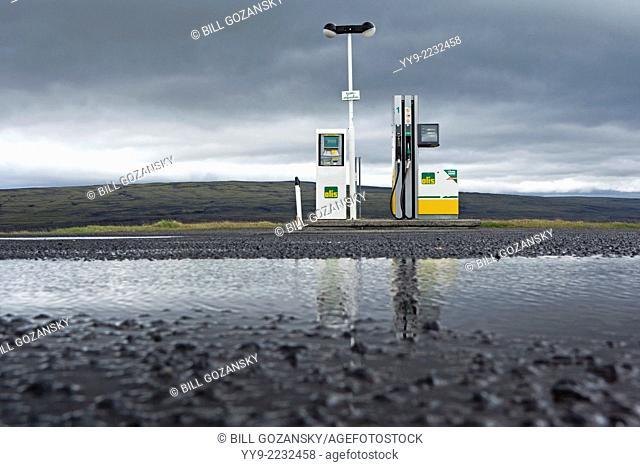 Remote Olis Fuel Station - Hrauneyjar, Southern Highlands, Iceland