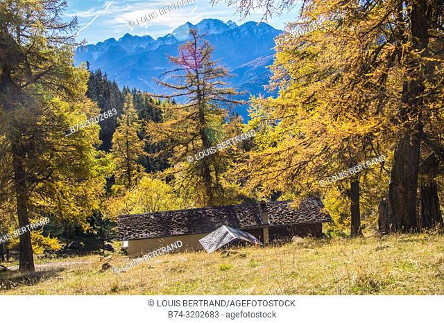 Col of lien, Valais, Switzerland