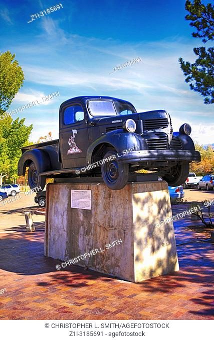 1941 Dodge Pick-up truck on display at the car park on Montezuma Ave in Santa Fe, New Mexico USA