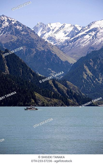Tianshan Lake Lake of Heaven, Urumuqi, Xinjiang, China