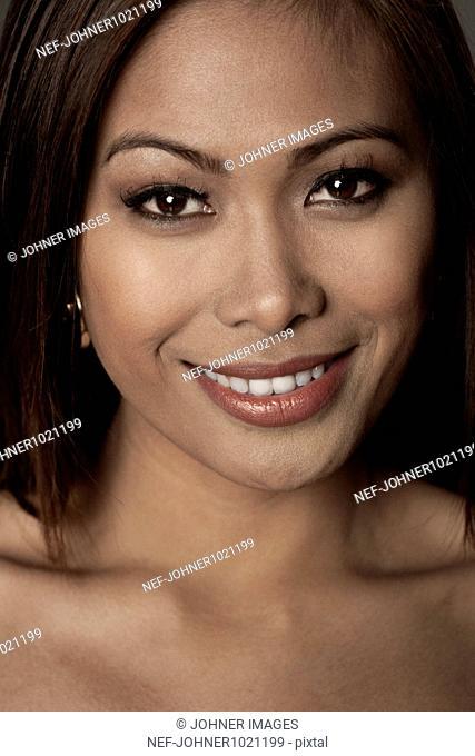 Smiling woman, close-up, portrait