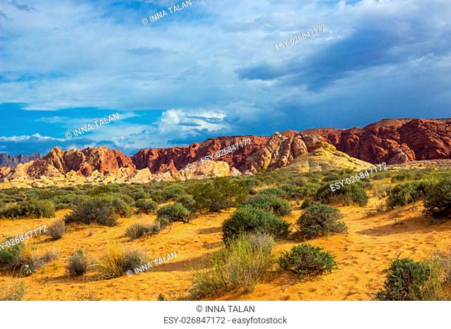 Valley of Fire State Park is the oldest state park in Nevada, USA and was designated as a National Natural Landmark in 1968