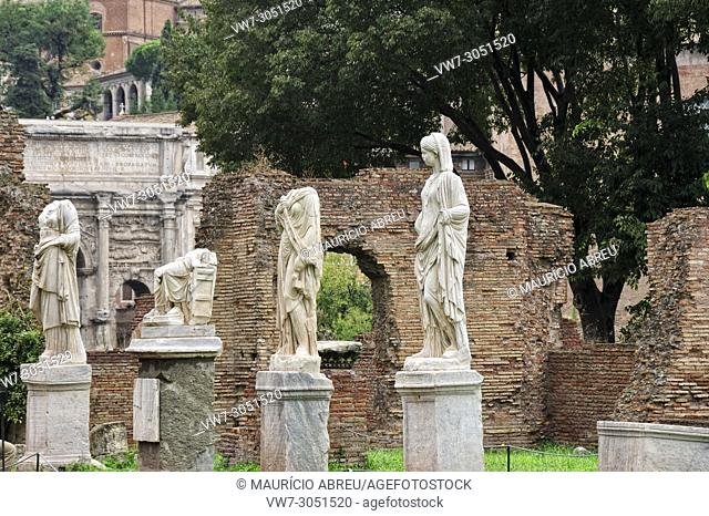 House of the Vestal Virgins, Roman Forum. Rome, Italy