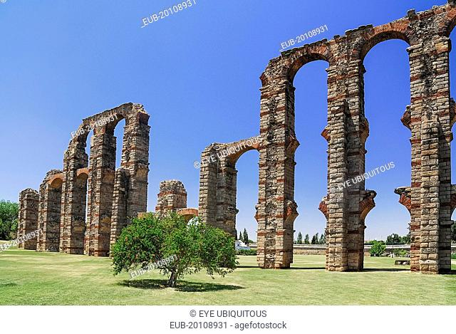 Los Milagros Aqueduct built by the Romans in the first century BC