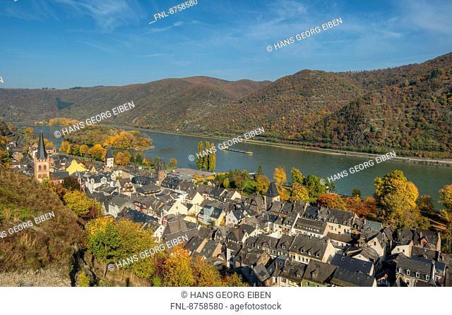 Bacharach with River Rhine, Rhineland-Palatinate, Germany