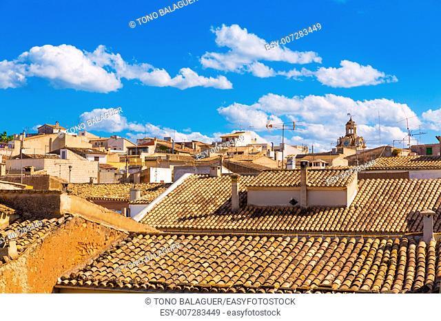 Alcudia Old Town in Majorca Mallorca Balearic island of Spain