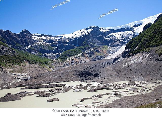 Cerro Tronador with the Ventisquero Negro Black Glacier, Nahuel Huapi National Park, Patagonia, Argentina