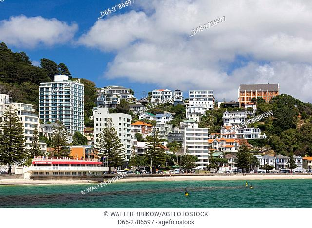 New Zealand, North Island, Wellington, Oriental Parade, buildings