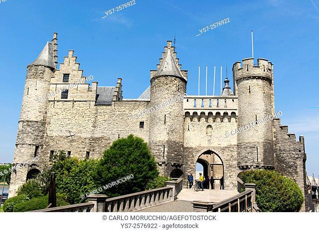 Het Steen is a medieval fortress in Antwerp, Belgium, Europe