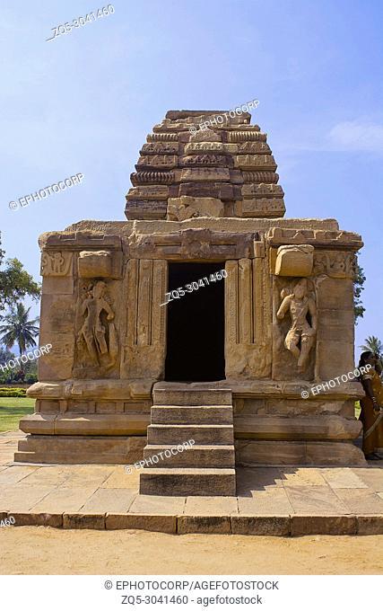Small temple in Pattadakal complex, Pattadakal, Karnataka, India