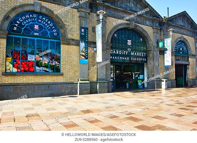 Cardiff market, cardiff, wales