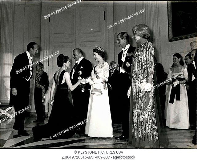 May 16, 1972 - With Presidents and Mrs. Giscard D'Estaing (Credit Image: © Keystone Press Agency/Keystone USA via ZUMAPRESS.com)