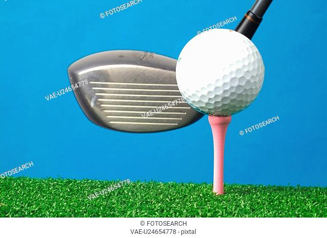 club, leisure, ball, golfball, golf, sports