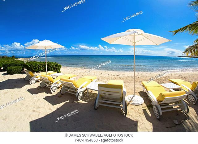 Altamer Resort on Shoal Bay West Beach on the caribbean island of Anguilla in the British West Indies