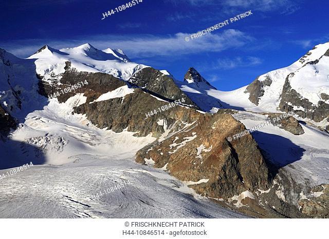 Swiss Alps, view, Diavolezza, mountains, mountain, alpine, Landscape, scenery, nature, Piz Palu, Bellavista, Piz Berni
