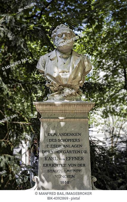 Memorial, Karl von Effner, Munich, Bavaria, Germany
