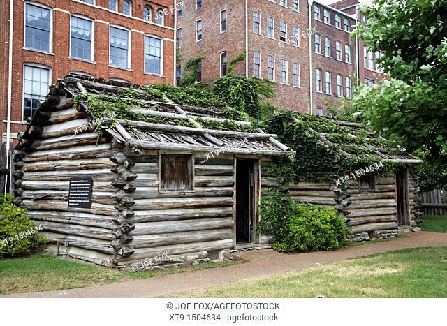 fort nashborough stockade recreation Nashville Tennessee USA