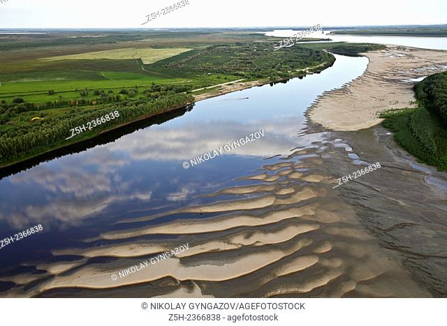 Nature of the Yamal-Nenets Autonomous District from the air
