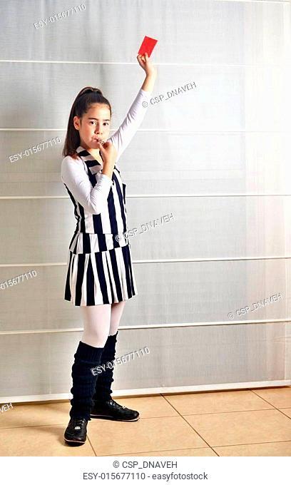 Purim (Halloween): Soccer Referee