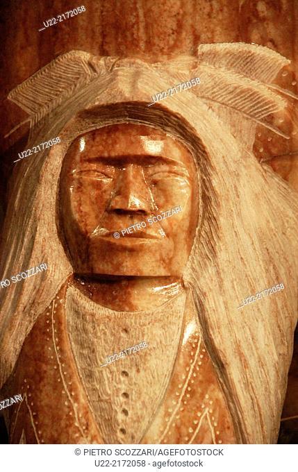 Arizona, U.S.A., carved stone Navajo-style sold to tourists