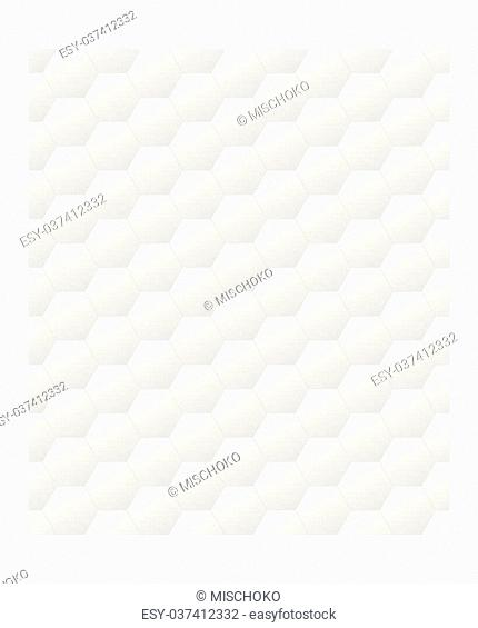 Seamless tileable hexagonal pattern in light grey gradient - fully editable color EPS10